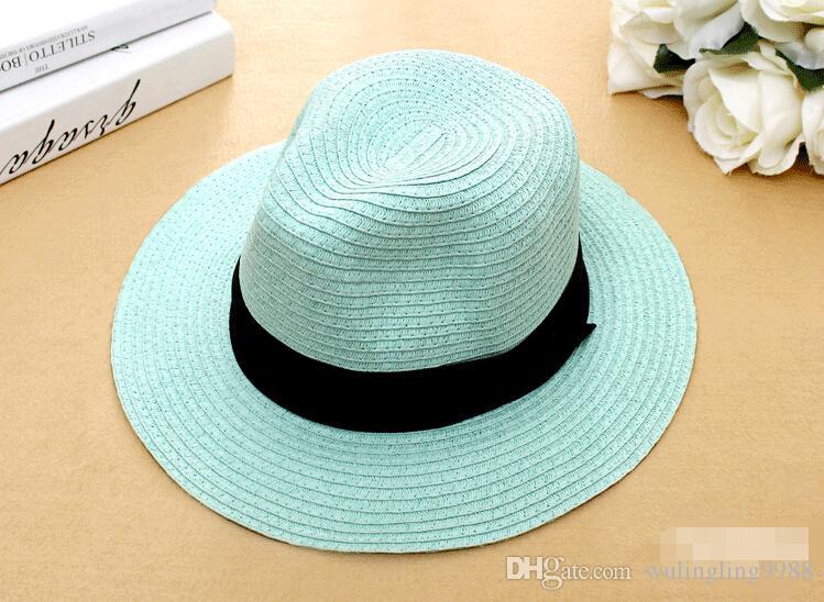 Verão Floppy Largo Palha Praia mesquinha Chapéus De Aba De Sol Para As Mulheres, praia Headwear, chapéu De Panamá De aba larga, chapeau femme paille, chapeu feminino