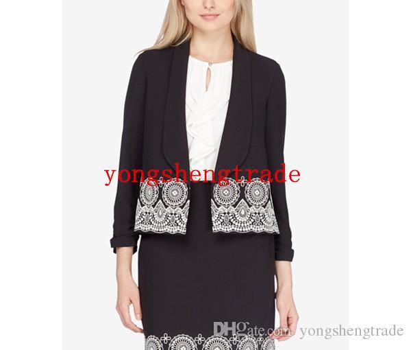 Acheter Haute Qualité Tissu Noir Jupe Costume Costumes Sur Mesure Pour Les  Femmes Brodé Veste Jupe Crayon Brodé Parfait Pour Toute Occasion De  118.75  Du ... 0f483978755