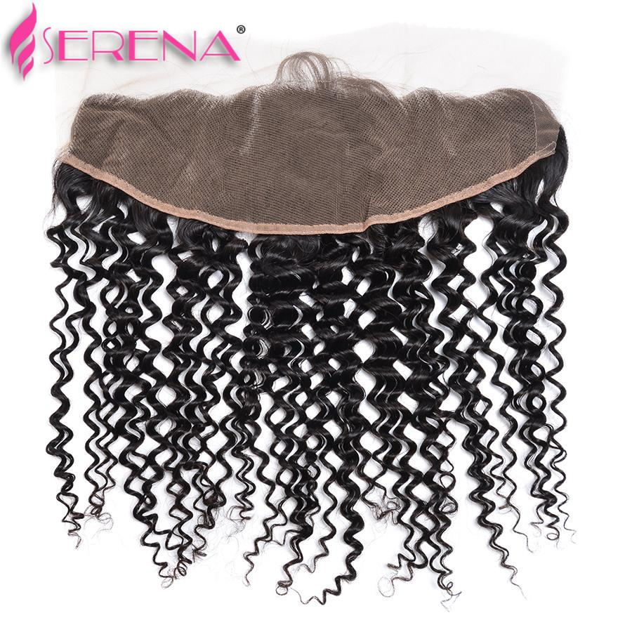 7a Malaysisches lockiges Haar-Spitzen-Frontverschluss mit 4 Bündeln 13 * 4 Ohr-zu-Ohr-Spitze-Verschluss mit malaysischem Jungfrau-Haar tief gelockt