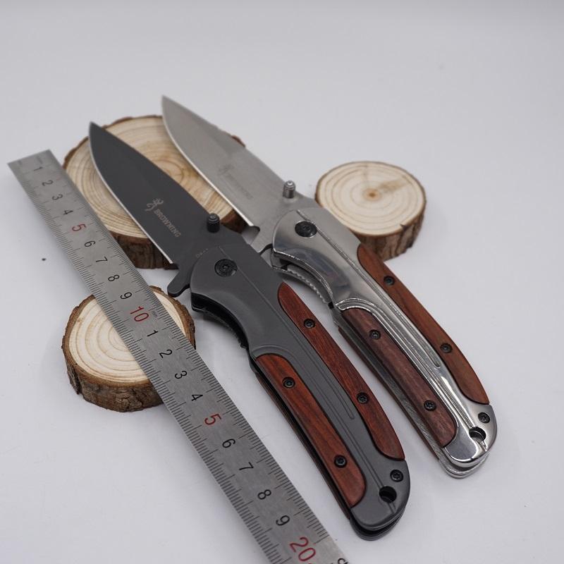 Browning DA43 Folding Knife 3Cr13 Blade Rosewood Handle Titanium Tactical Knives Pocket Camping EDC Tool Hunting Knife Survival Knife
