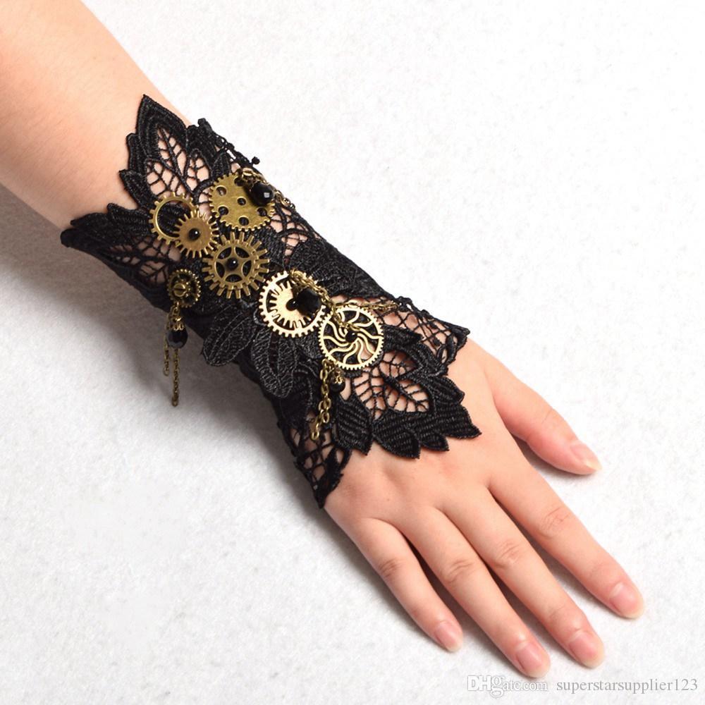 delle donne dell'annata Steampunk Gear polso polsino del braccialetto del Armbrand industriale vittoriana costume cosplay di accessori di alta qualità