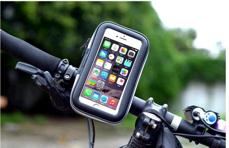 5.5 inches Black Cheap Bicycle frame mobile phones general waterproof package navigation vehicle package Touch screen pack cycling