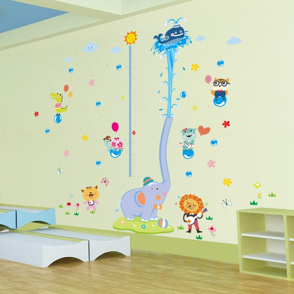 Large size height chart wall stickers for kids rooms wall decor 15 amipublicfo Gallery