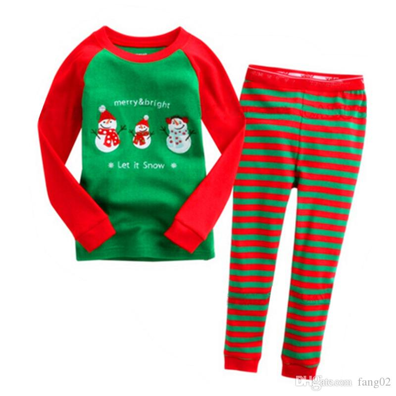 0a87b789de81 Kids Pajamas Sets Children Cartoon Baby Boys Girls Nightwear ...