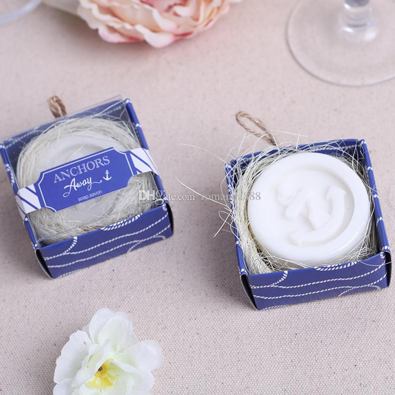 mini handmade anchor soap for wedding and baby shower favors event