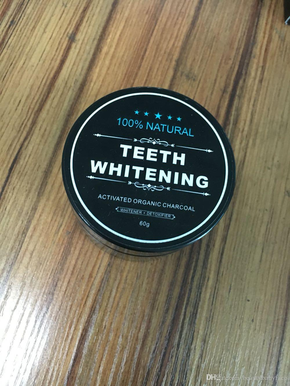 60G Tooth Whitening Nature Bamboo Activated Charcoal Smile Powder Decontamination Tooth Yellow Stain Bamboo Toothbrush Toothpaste Oral Care