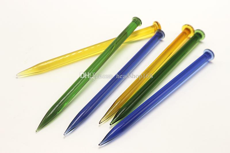 Coloré Verre Dabber Outil Conception Crayon Dabs Pour Bong Outil Nid D'Abeille Fumer Accessoires Accessoires Dabber En Verre Pour Plate-forme pétrolière Bongs