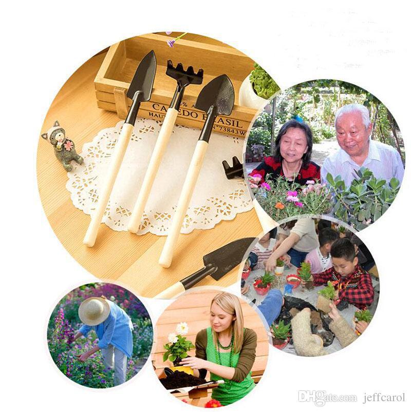 New hot ! hand tools gardening kit ferramentas bonsai Iron shovel rake shovel ripper garden digging tools