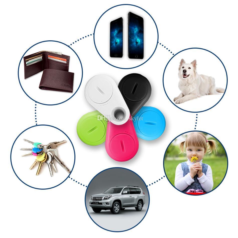 Mini-GPS-Verfolger Bluetooth 4,0 GPS-Alarm iTag-Schlüsselsucher Anti-verlorener Selfie-Auslöser mit Kleinpaket Pakcage