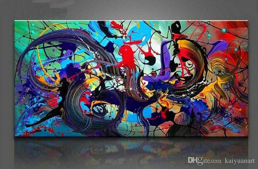 Hand Painted Abstract Painting Decorated Wall Art Draw For