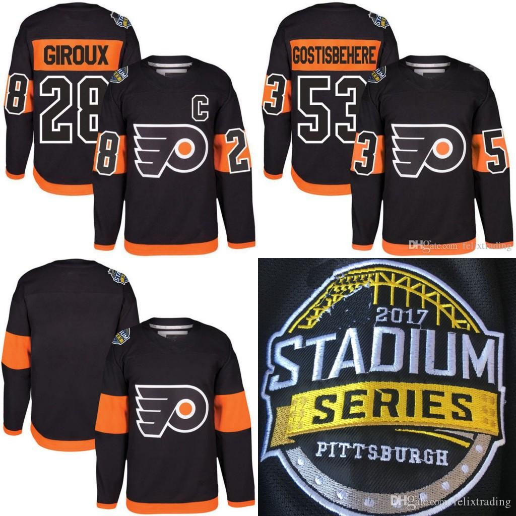 ... black uniform into the rotation for the first time in six season 74671  b81ae  shopping compre 2017 serie del estadio premier jersey philadelphia  flyers ... 21b8373fa