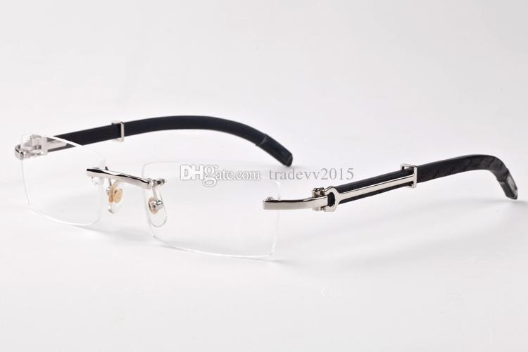 14 renkler Sıcak satış kadınların lüks gözlük gözlük Boyutu çerçevesiz ormanın güneş gözlüğü Doğal siyah manda boynuzu erkek gözlük: 55-140mm