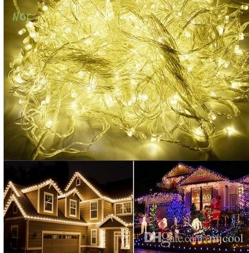 30M 300 luces de la secuencia del LED luces de boda de hadas de la fiesta de Navidad de la luz de destello al por mayor blanca AC110V-220V