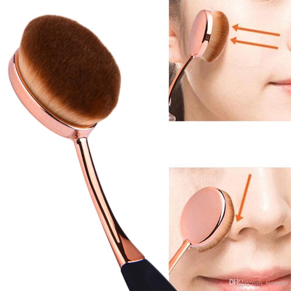 Oval Foundation Brush 5 teile / satz Zahnbürste Make-up Pinsel schnell fehlerlose Anwendung flüssige Cremepulver Foundation Box Paket von DHLOval Fou