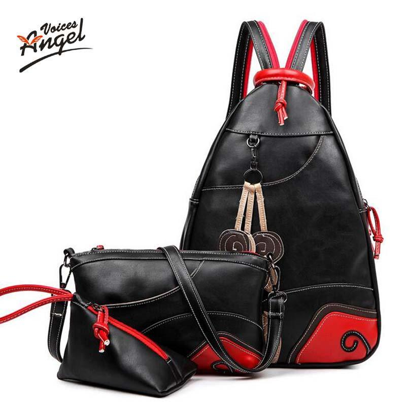 Wholesale- Angel Voices Women Backpack Big Girl Student Book Bag ... c48410bb2798a