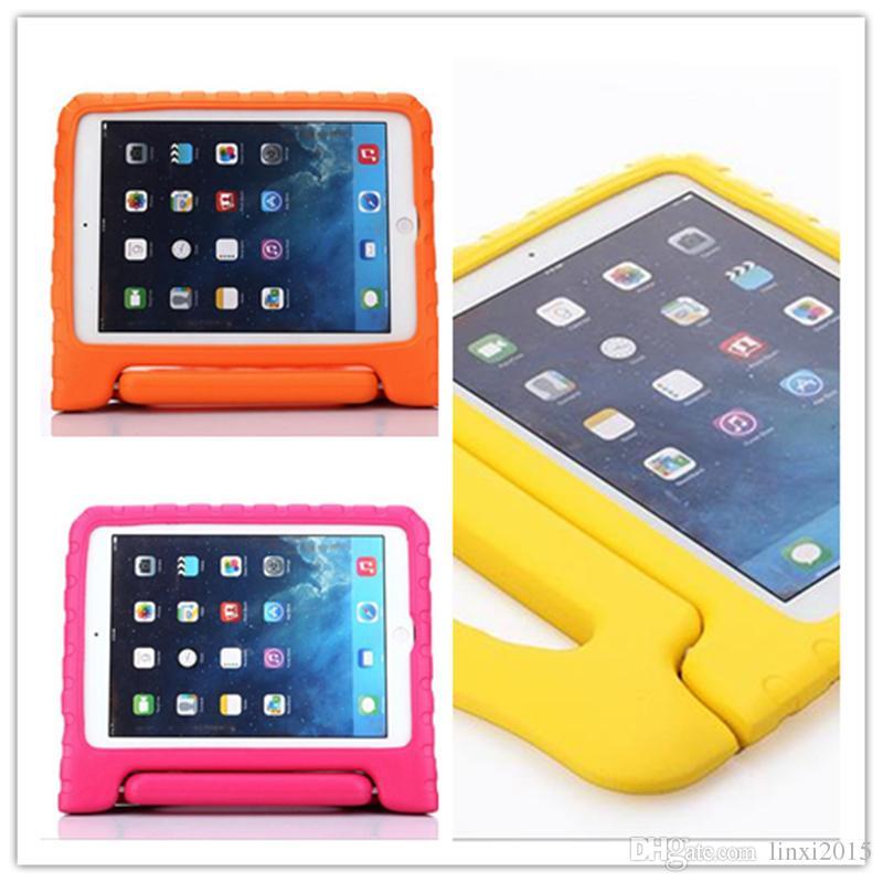 Portátil Crianças Seguro À Prova de Choque de Espuma EVA Caso Lidar Com Tampa Suporte para iPad mini 1234 2/3/4 Ar 5 6 Pro frete grátis