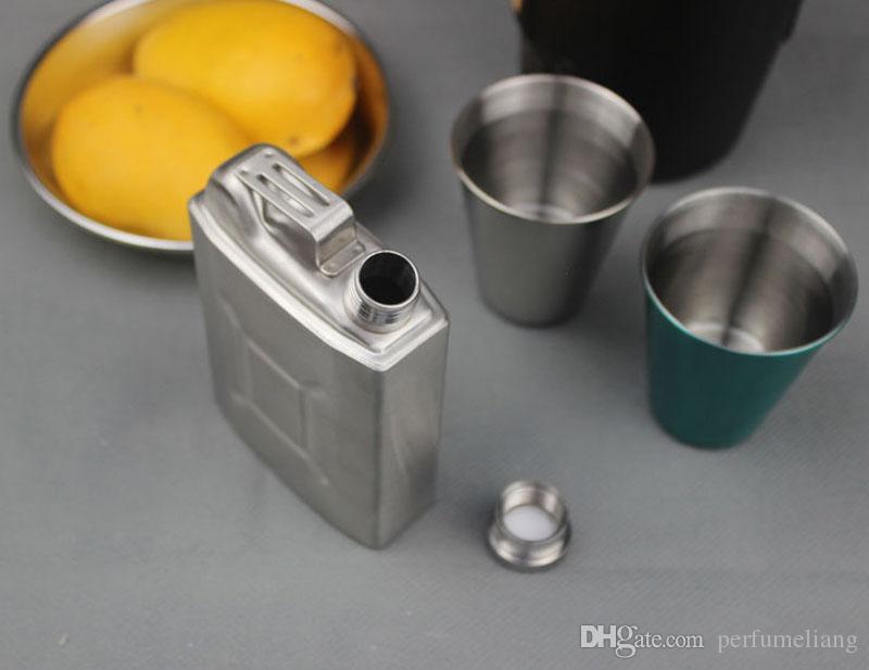 5oz Edelstahl Flachmann Jerry Kann Alkohol Whiskey Taschenflasche Tragbare Männer Im Freien Alkohol Trinken Flasche ZA3677