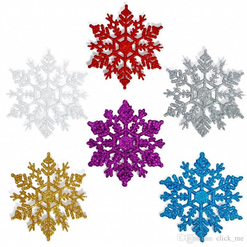 10cm Colorful Christmas Snowflake Tree Decorations Snowflakes /Bag Plastic  Artificial Snow Christmas Decorations For Home Navidad House Decorating For  ... - 10cm Colorful Christmas Snowflake Tree Decorations Snowflakes /Bag