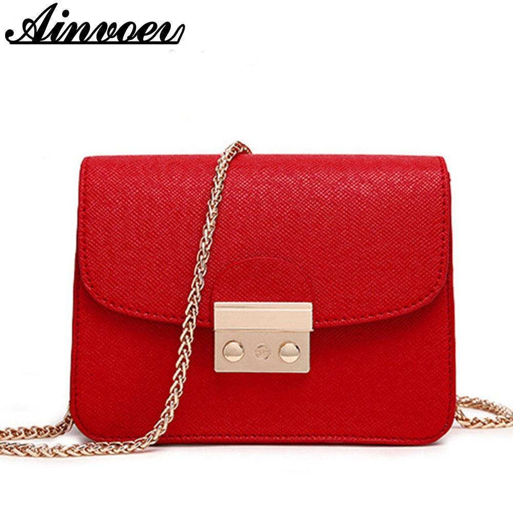 Wholesale- Ainvoev Small Women Messenger Bag Clutch Bags Good Quality Mini Shoulder Bags Women Handbags Crossbody Bags Hot Sale hl8522