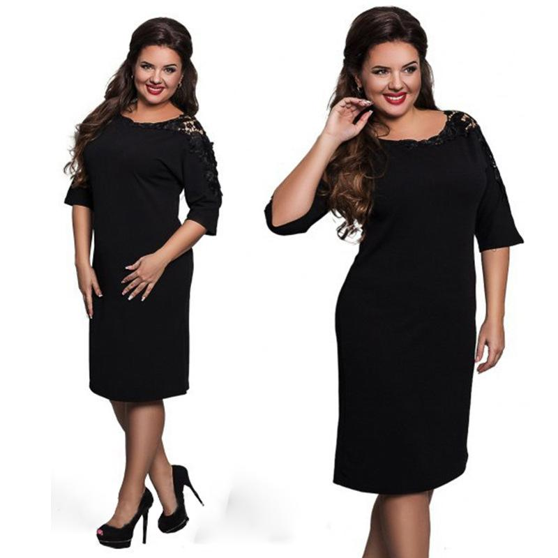 2017 New Top Quality ROSICIL Womens Elegant Clothing Lace Half Sleeve Casual Bridesmaid Mother Of Bride Evening Party Dress Women Dresses