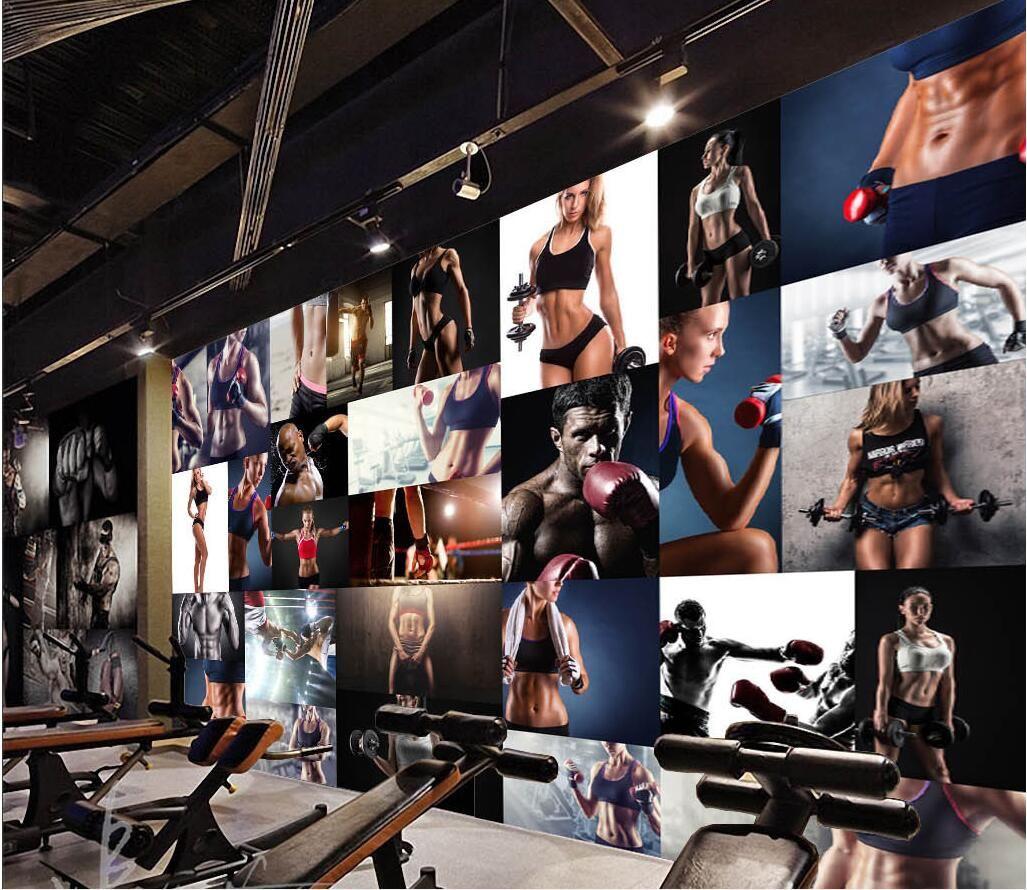 D room wallpaper custom photo mural gym fitness boxing