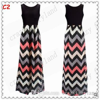 Women Casual Dress 2017 Summer Colorful Striped Dress Patchwork Dresses for Womens Maxi Dresses Sleeveless Vest Dress Fashion Clothing 108
