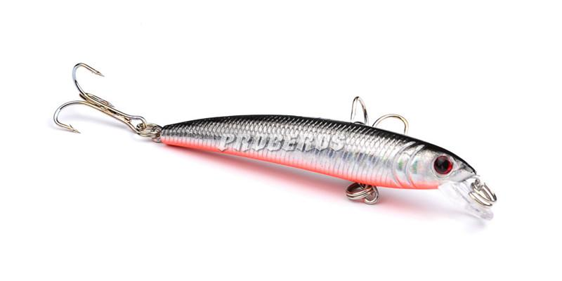 7.5cm 5.6g 3D Holographic Minnow Artificial Fishing Lure Bionic Transparent laser Baits Diving Depth 0.3-1.2m