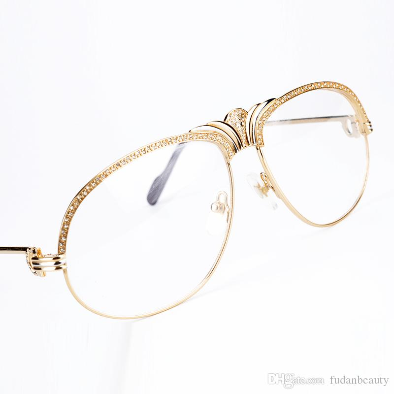 Luxury Diamonds Crown Metal Eyeglasses Frames Women Brand Designer ...