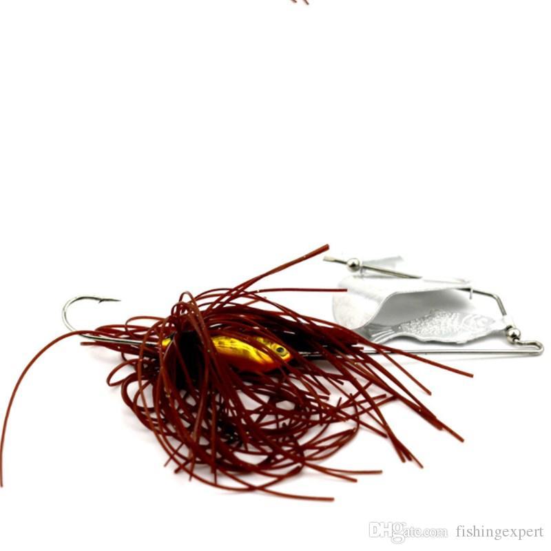 Water Series Fishing Lures 16G Skirt Willow Leaf Spinnerbaits Beard Guy Fishing Baits or Hard Metal Baits and Jigging Heads Hooks