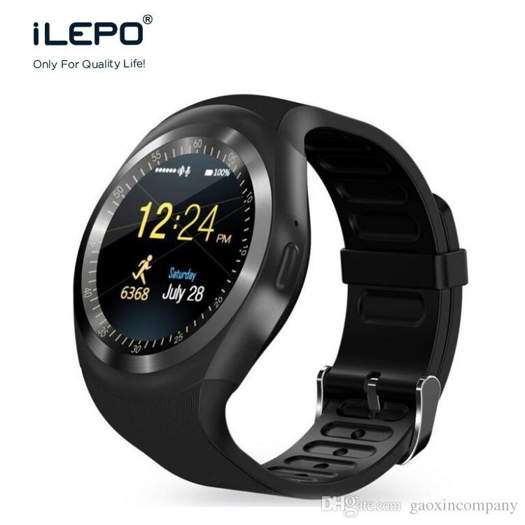 smartwatch mit sim karte Armbanduhren Mit Gps Y1 Smart Watch Unterstützung Nano SIM Karte