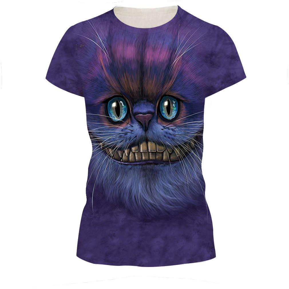 Loose Smooth Girls Thin T Shirts 3d Print Purple Color Monster Big