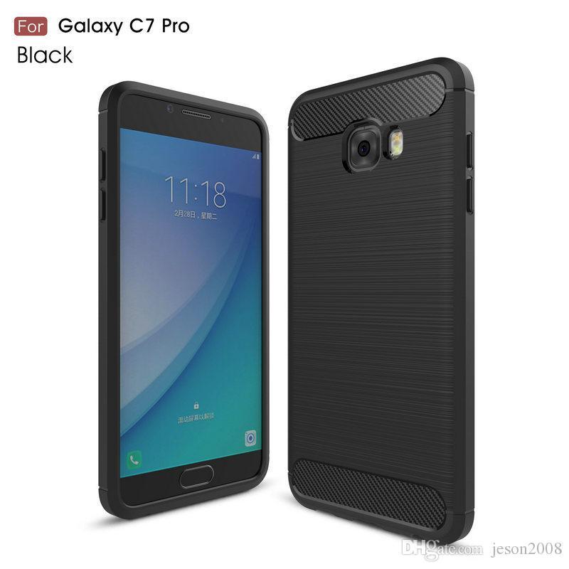 771693b7b3f Carcasas Personalizadas Funda De Fibra De Carbono Para Samsung Galaxy J5 J7  2016 C9 C7 C5 Pro J1 Mini Pirme Cubierta Suave TPU A Prueba De Golpes  Bolsas De ...