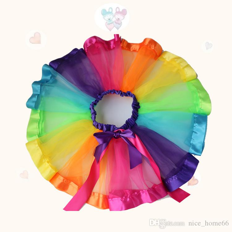 d19f6059f5 2019 Baby Girls Rainbow Tutu Skirts Girls Pettiskirt Dancewear Ballet Tutu  Dress Kids Party Princess Tulle Skirt From Nice_home66, $4.48 | DHgate.Com
