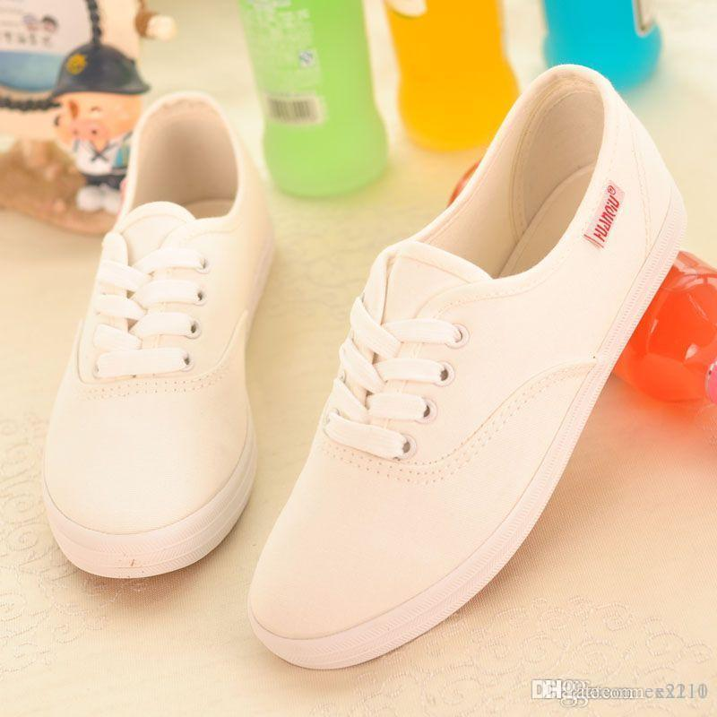 Nice Fashion Women Canvas Shoes Low Breathable Women Solid Color Flat Shoes  Casual Candy Colors Leisure Cloth Shoes Fashion Ex Orthopedic Shoes Womens  ... f56695a20