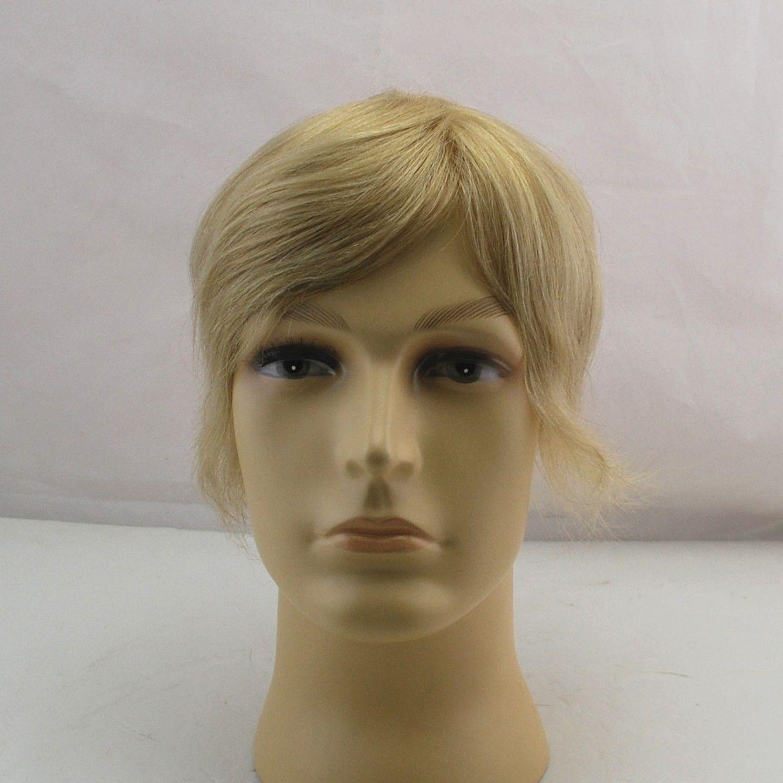 Großhandel Full Lace Basis Blonde Farbe Haare Stück Auf Lager Toupee