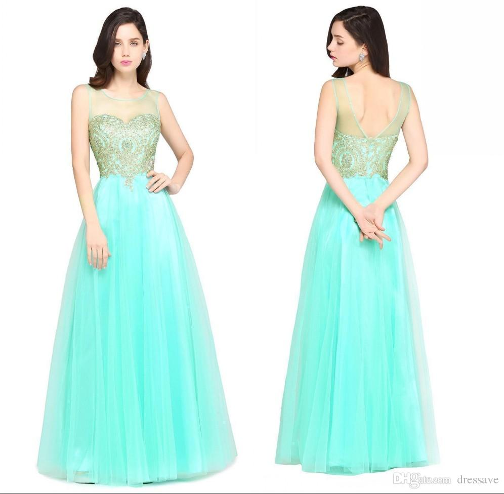 2018 Cheap Mint Green Beaded Tulle Ball Gown Prom Dresses Sexy ...
