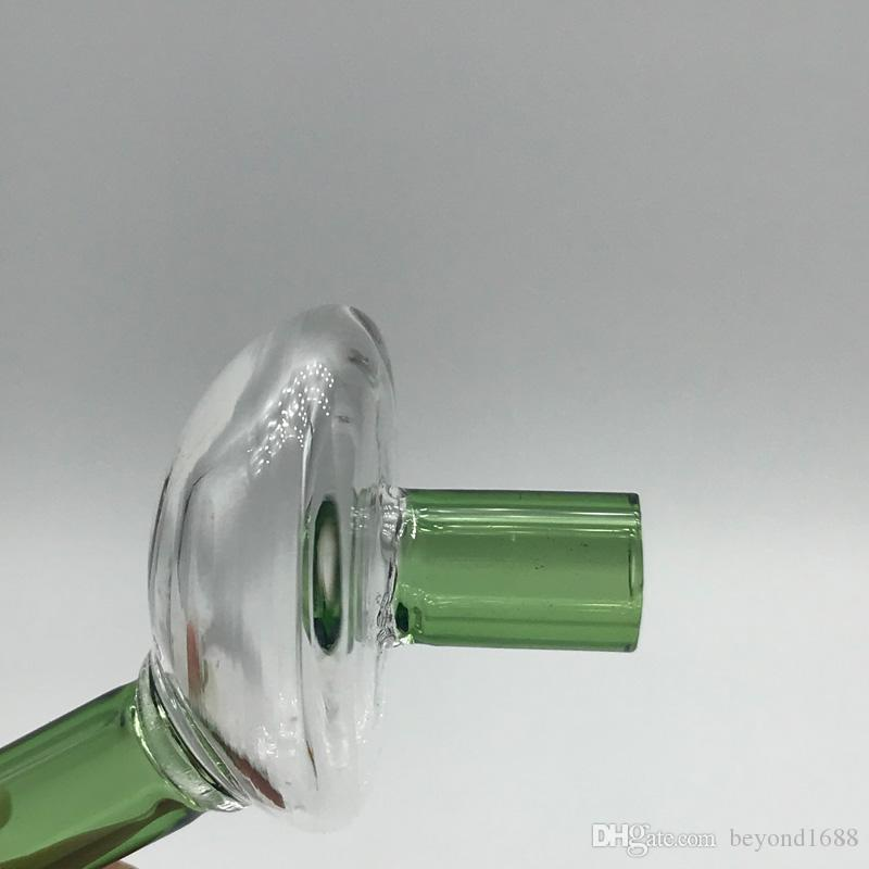 Factory direct supply Glass Straw Carb Caps With Hole Fit For Flat Top Quartz Banger Nail Glass Bong Water Pipes with wholesale price