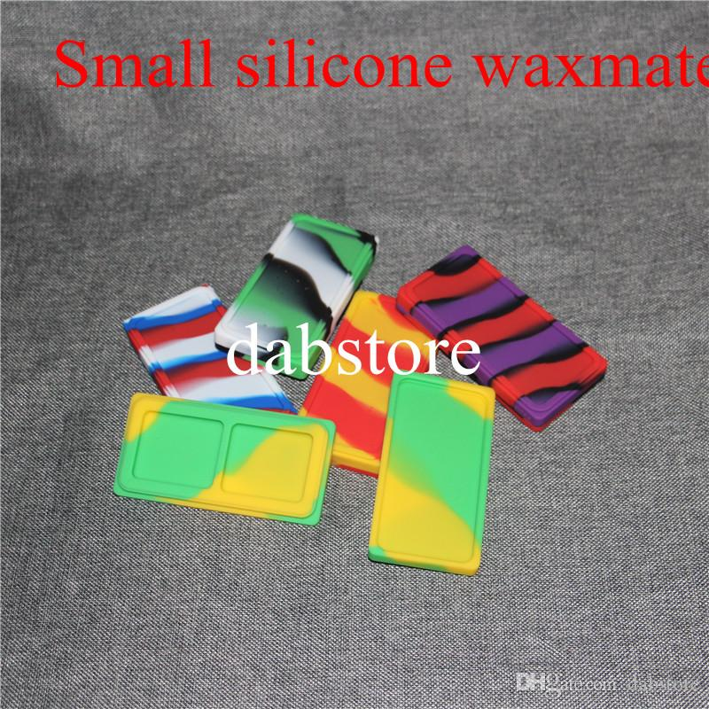 Small Waxmate Containers Silicone Rubber Storage Square Shape Wax Jars Dab Tool Dabber Oil Holder for Vaporizer Dry Herb DHL