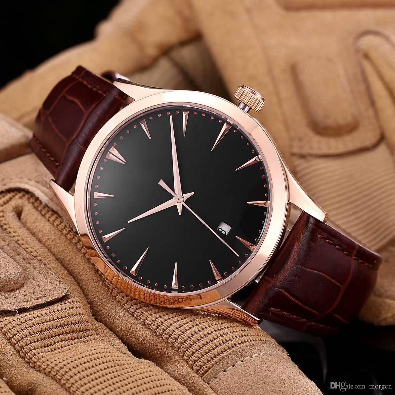 6d03ea0a4ed Compre Top Marca De Luxo Todos Os Relógios De Movimento Automático Homens  Relógios Esportes Moda Mens Relógio De Pulso Pulseira De Couro De Morgen