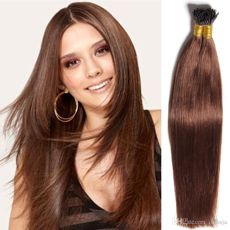 Brazilian I Tip Remy Human Hair Extensions For Black Women Blonde