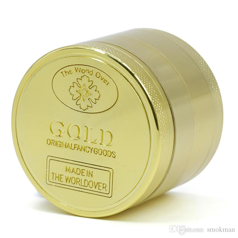 Цинковый сплав травы точильщика 4 шт 50 мм Диаметр золота новый стиль курение табака точильщика во всем мире во всем мире