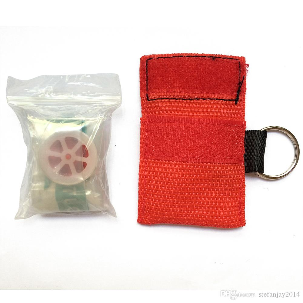CPR Keychain Masks Cpr Face Shield with One-way Valve for First Aid or AED Training