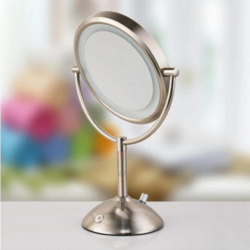 Superbe 7 Inch Led Cosmetic Mirror With Light 1/3X Stainless Steel 4 Pcs AA Battery  Makeup Mirror With Light Table Stand Mirror