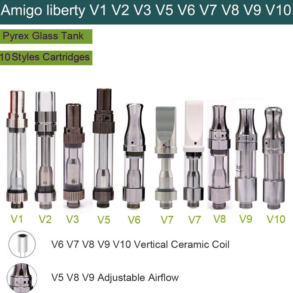 Voltaje variable batería esmart aceite grueso precalentamiento vape pluma kit cargador usb Amigo liberty V4 V6 V7 V9 cerámica bobina atomizador vape carritos