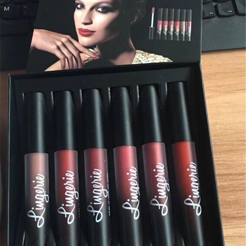 Hottest NYX Lingerie Liquid Matte Lipstick Luxury Velvet Matte Nude Lip Gloss