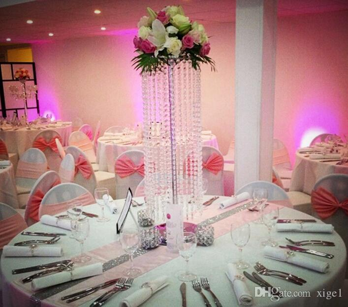 2017 Acrylic Crystal Wedding Centerpiece 70cm Tall Flower Stand Table Decor Supply From Xige1 70352