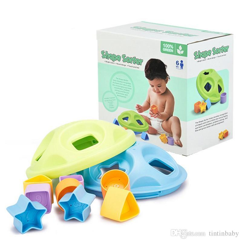 Baby Toy Shape Sorter Shape Sorting Blocks for Toddlers to Learn the Colors and Shape Safe Play Starts with Safe Toys Dishwasher Safe