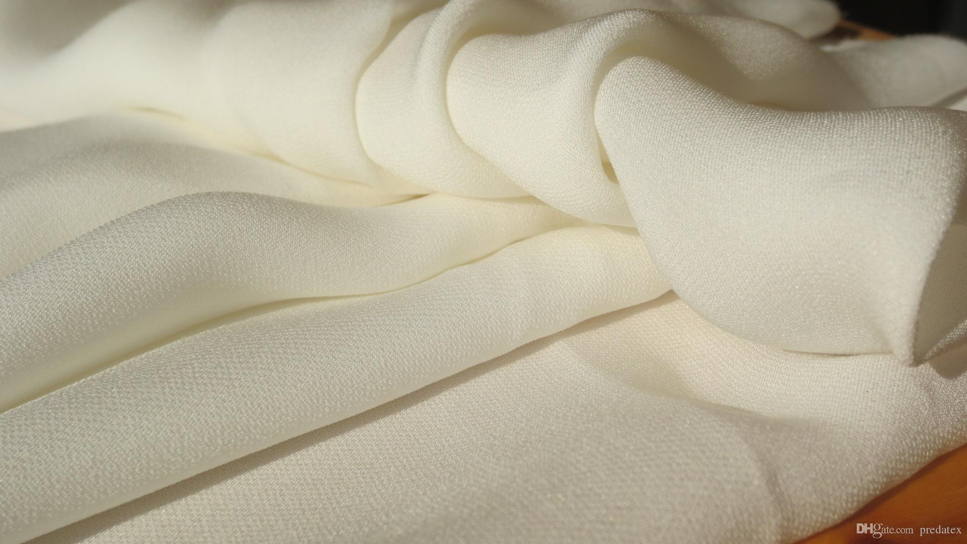 Tende In Tessuto Georgette : Acquista georgette doppia in seta 18mm 140cm tessuti in seta cinese