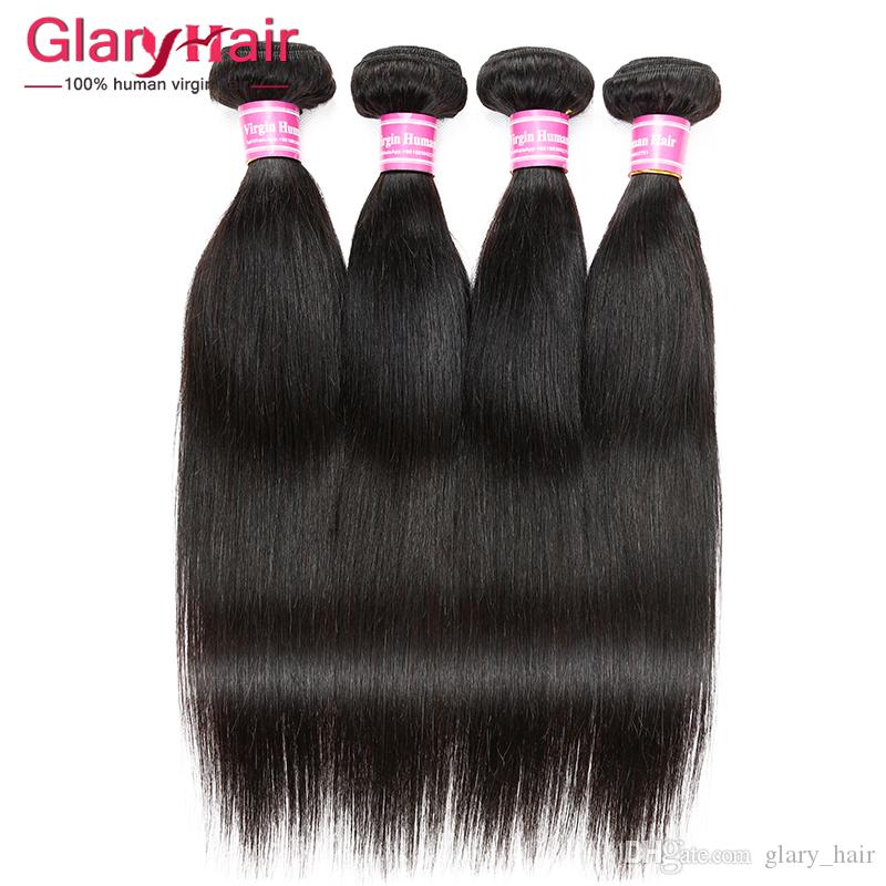 Top Quality Unprocessed Human Hair Extensions Straight Virgin Hair Wefts Cheap Brazilian Braiding Hair Weave Bundles Wholesale Products