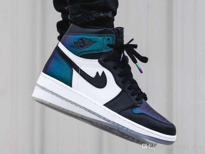 new concept 1015b 77194 2017 Air Retro 1 All Star Basketball Shoes Hi AS OG 907959 015 Men High Top  Chameleon Black / Metallic Silver Sport Shoes US7 13 Kevin Durant ...